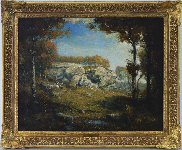 Henry Ward Ranger Landscape Painting - Sentinel Rock