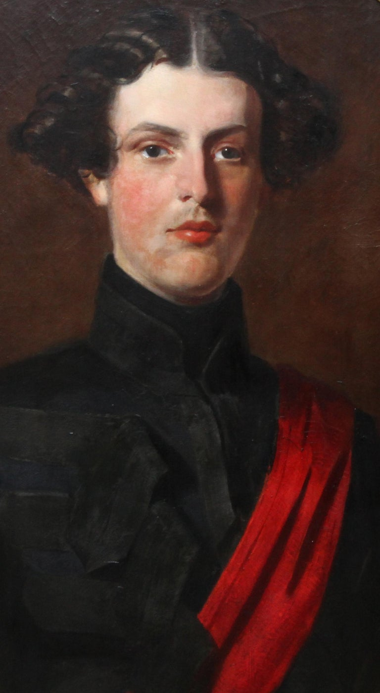 Military Portrait of Hon Edward Brownlow - British 19th century art oil painting - Realist Painting by Henry Weigall