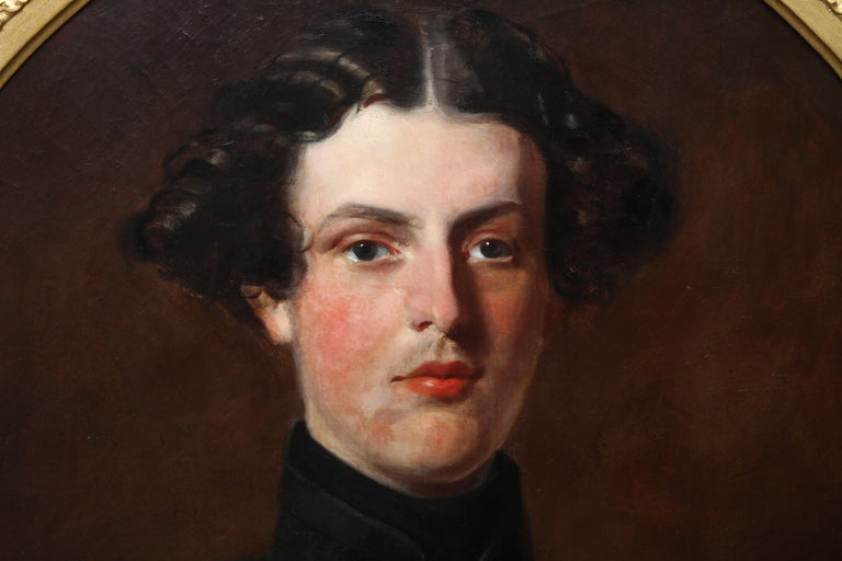 Military Portrait of Hon Edward Brownlow - British 19th century art oil painting For Sale 1