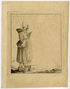Paysanne de la France - Caricature of a French peasant woman.