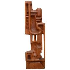 Henryk Burzec der 1970er Jahre Holz-Skulptur