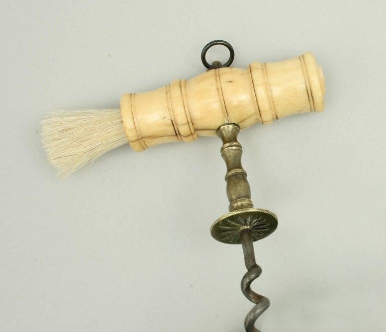English Henshall Type Bone Handled Corkscrew For Sale