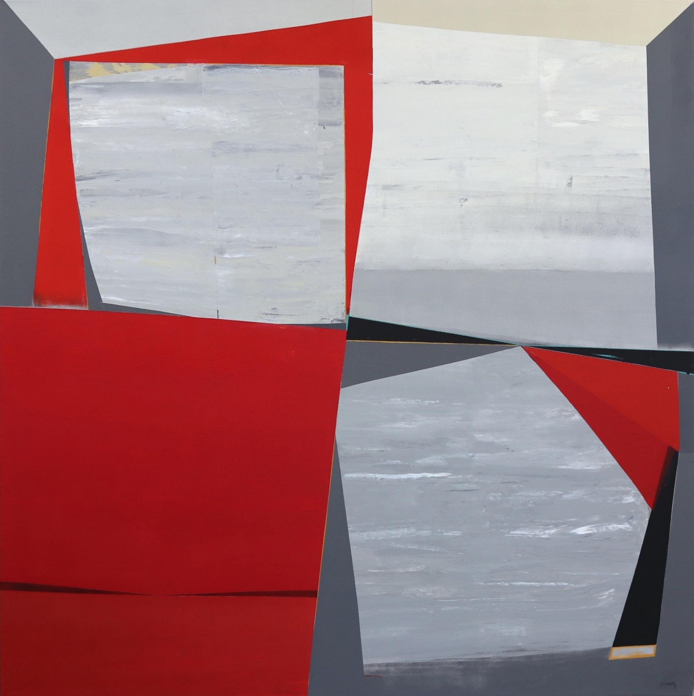 Tectonic - Cubist Abstract Large Original Artwork