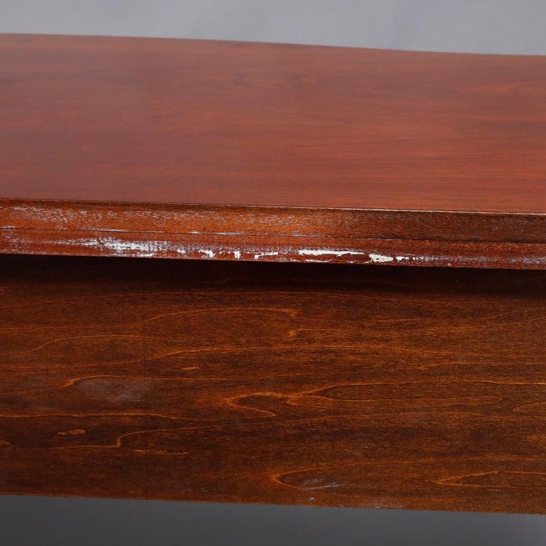 Hepplewhite Councill Craftsmen Flame Mahogany Serpentine 2-Drawer Server For Sale 6