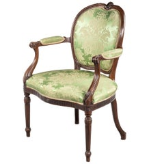 Hepplewhite Design Mahogany Framed Chair