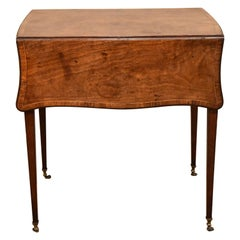 Hepplewhite Fiddleback Butterfly Pembroke Table Mahogany