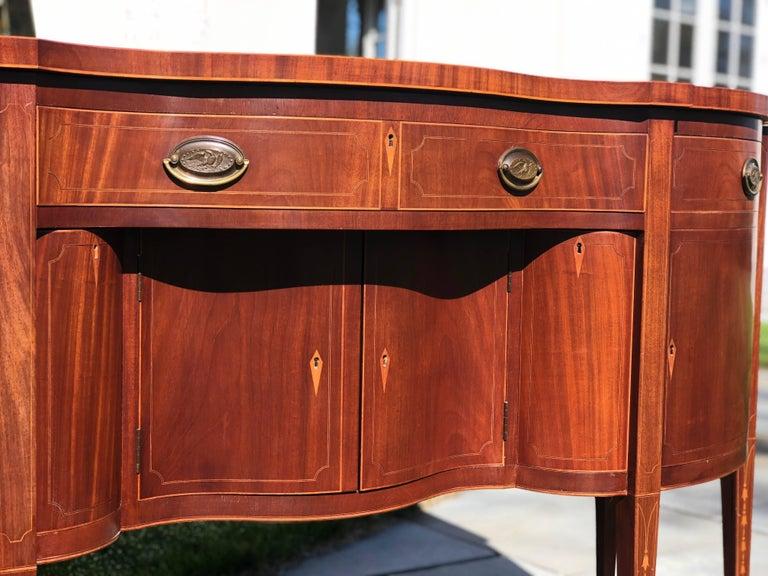 American Hepplewhite Sideboard  For Sale
