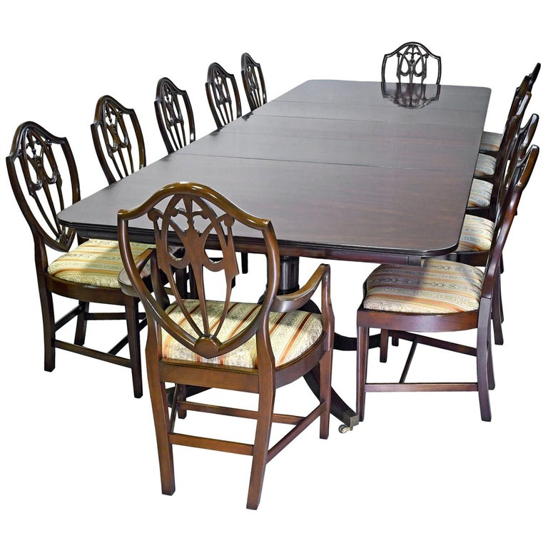 About A Chair 12 Side Chair.Hepplewhite Style Dining Set In Mahogany 12 Long Table And Set Of