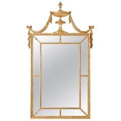 Hepplewhite Style Gilt Pier Mirror