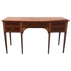 Hepplewhite Style Mahogany and Satinwood Sideboard