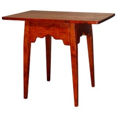 Hepplewhite Style Tiger and Birds Eye Maple Work Table, 20th Century