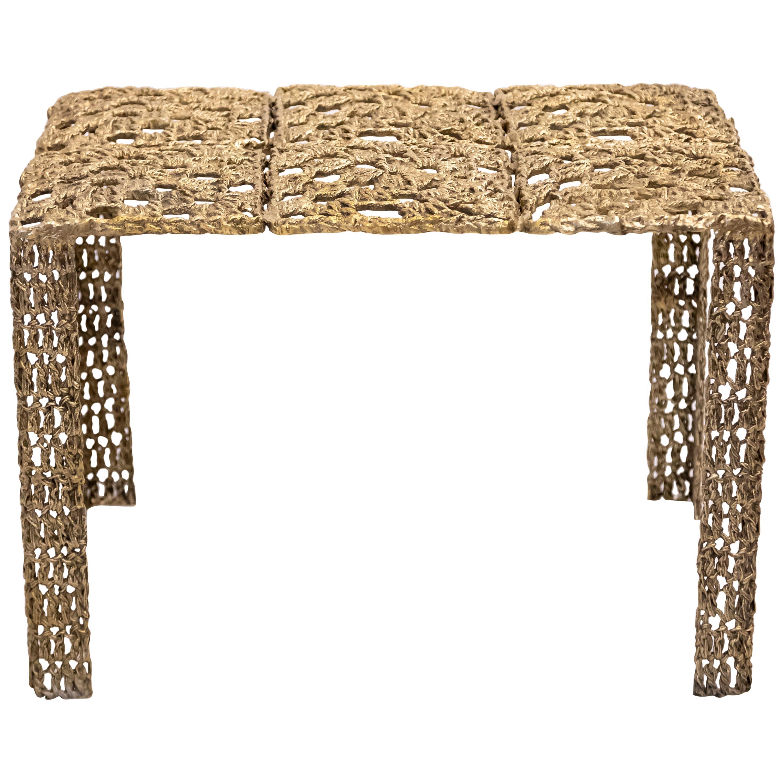 Hera Cast Bronze Rectangular Coffee Table by Allegra Hicks