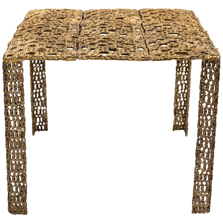 Hera Cast Bronze Square Coffee Table by Allegra Hicks