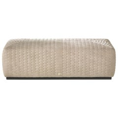 Hera Pouf in Quilted Leather by Roberto Cavalli