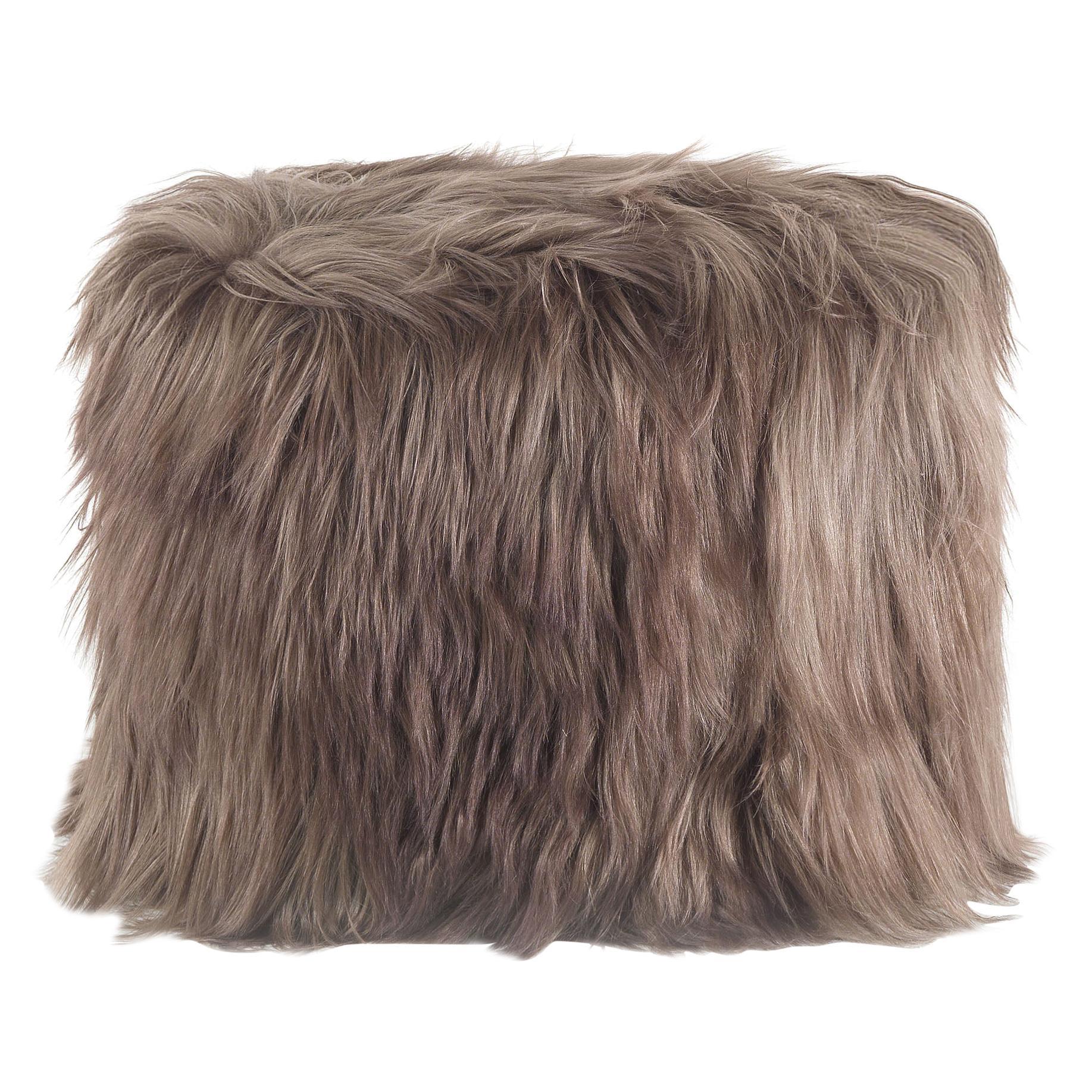 Hera.2 Pouf in Fur by Roberto Cavalli Home Interiors