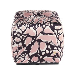 Hera.2 Pouf in Fabric by Roberto Cavalli