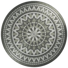 Herakles Round Mosaic Panel Medium by Mutaforma