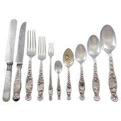 Heraldic by Whiting Sterling Silver Flatware Set 12 Service 135 Pieces Dinner