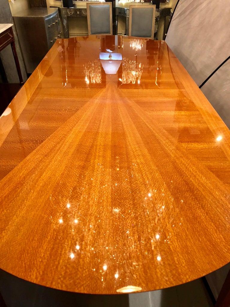 Heraldic Dakota Jackson Australian Lacewood Dining or Conference Table For Sale 6
