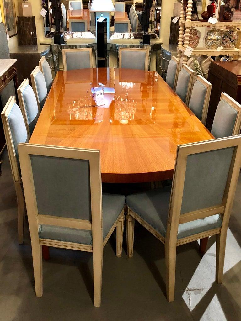 Heraldic Dakota Jackson Australian Lacewood Dining or Conference Table For Sale 7