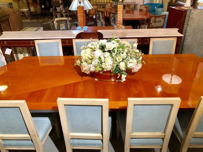 Heraldic Dakota Jackson Australian Lacewood Dining or Conference Table For Sale 8
