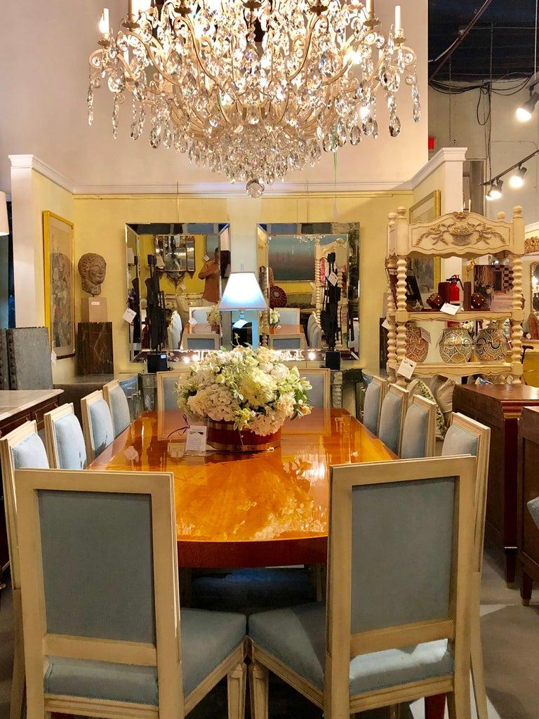 Heraldic Dakota Jackson Australian Lacewood Dining or Conference Table For Sale 9