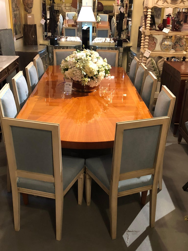Heraldic Dakota Jackson Australian Lacewood Dining or Conference Table For Sale 10