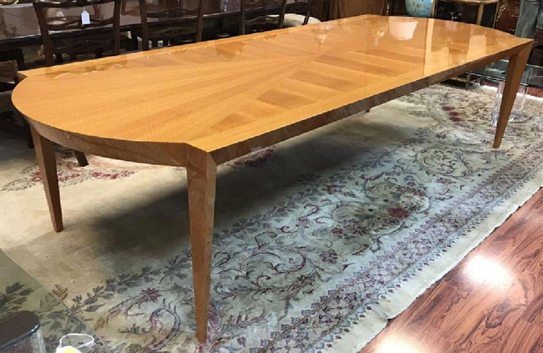Heraldic Dakota Jackson Australian Lacewood Dining or Conference Table In Good Condition For Sale In Stamford, CT