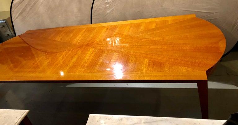20th Century Heraldic Dakota Jackson Australian Lacewood Dining or Conference Table For Sale