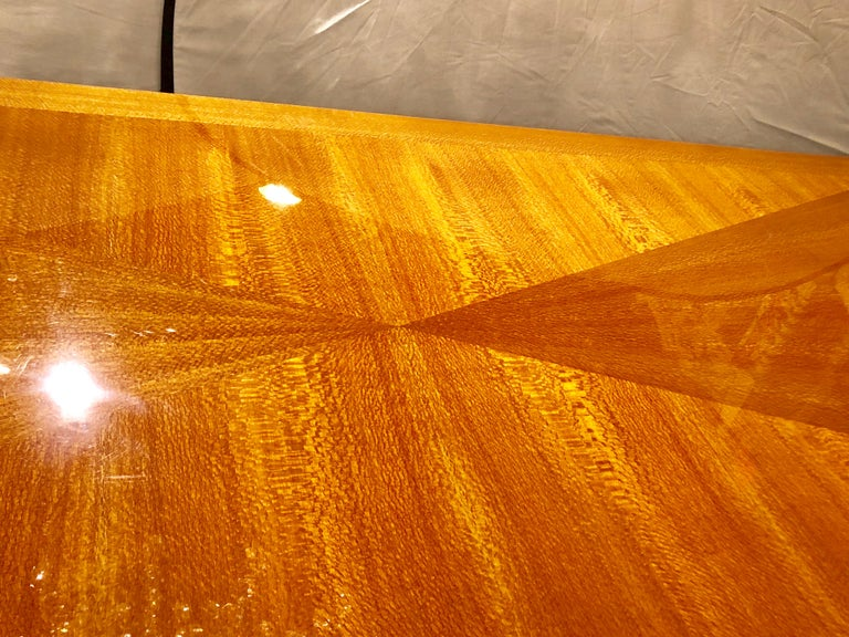 Heraldic Dakota Jackson Australian Lacewood Dining or Conference Table For Sale 2