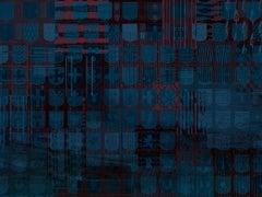 Héraldiques Vénitiens - custom mural wallpaper (blue and burgundy)