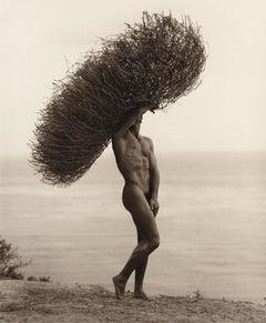 Male Nude with Tumbleweed, Paradise Cove