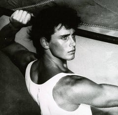 Male Portrait by Herb Ritts - Photography black & white - Silver gelatin print