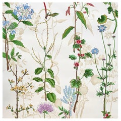 Herbarium of Colette by Clarence House, Vintage Handprinted Floral Wallpaper