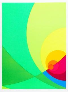 Split Infinity #4BS, Colorful Geometric Silkscreen by Herbert Aach