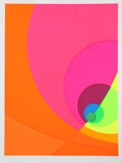 """""""Split Infinity #9BS"""", OP Art Serigraph, 1980"""