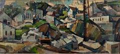"""""""The Quarry,"""" modernist oil painting on board by Herbert Barnett"""