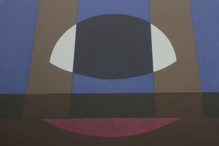 Herbert Bayer, Blue Moon Lithograph, Bauhaus Artist For Sale 4