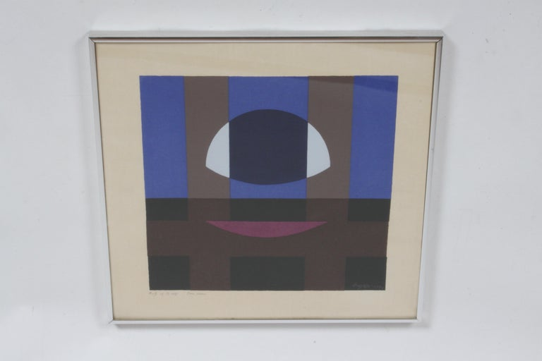 Herbert Bayer, Blue Moon Lithograph, Bauhaus Artist For Sale 5