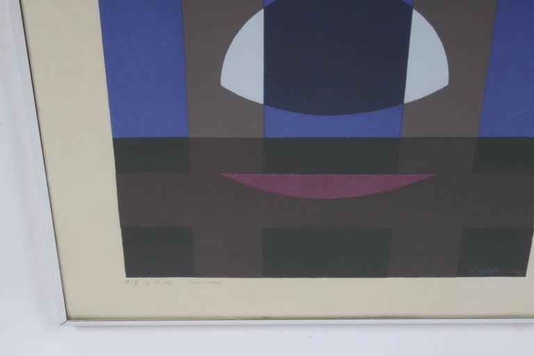 Herbert Bayer, Blue Moon Lithograph, Bauhaus Artist For Sale 6