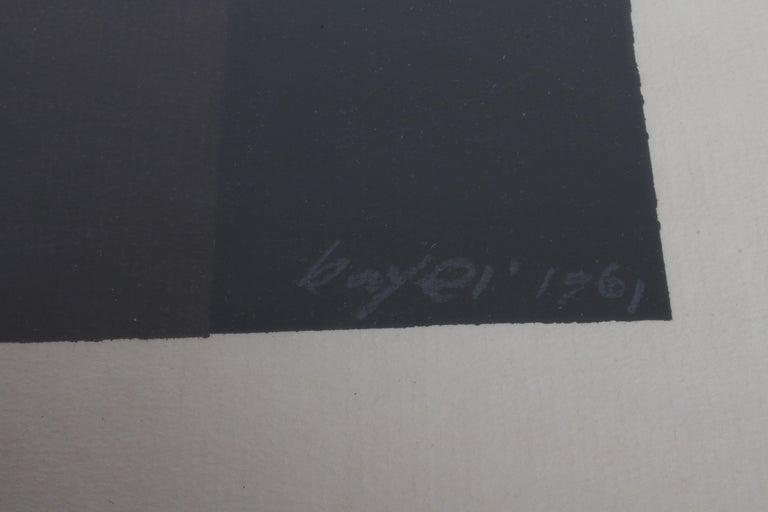 American Herbert Bayer, Blue Moon Lithograph, Bauhaus Artist For Sale