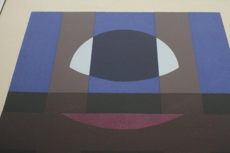 Mid-20th Century Herbert Bayer, Blue Moon Lithograph, Bauhaus Artist For Sale
