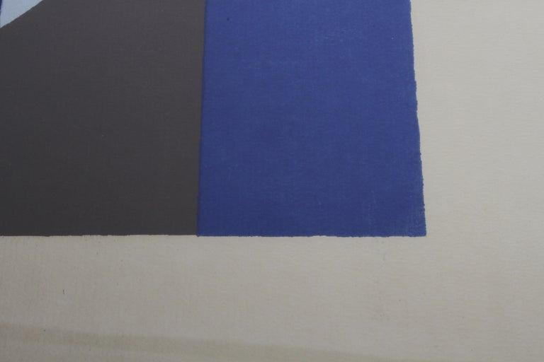 Paper Herbert Bayer, Blue Moon Lithograph, Bauhaus Artist For Sale