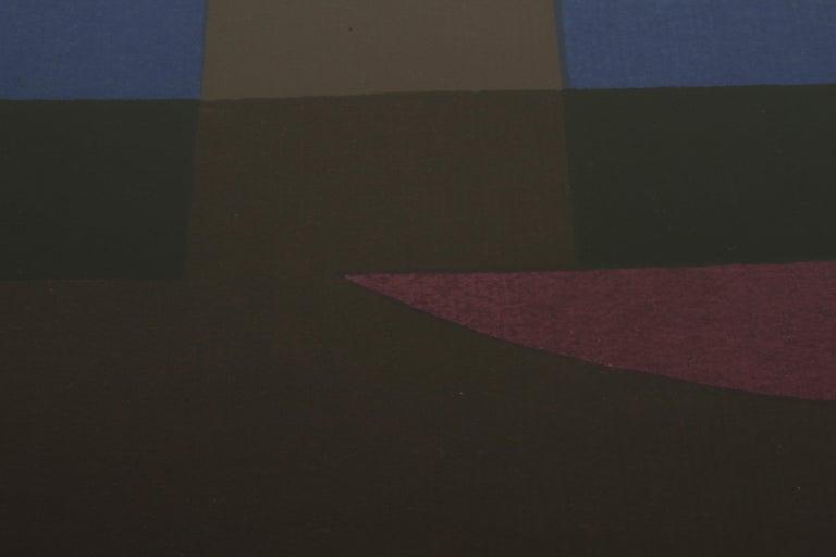 Herbert Bayer, Blue Moon Lithograph, Bauhaus Artist For Sale 2