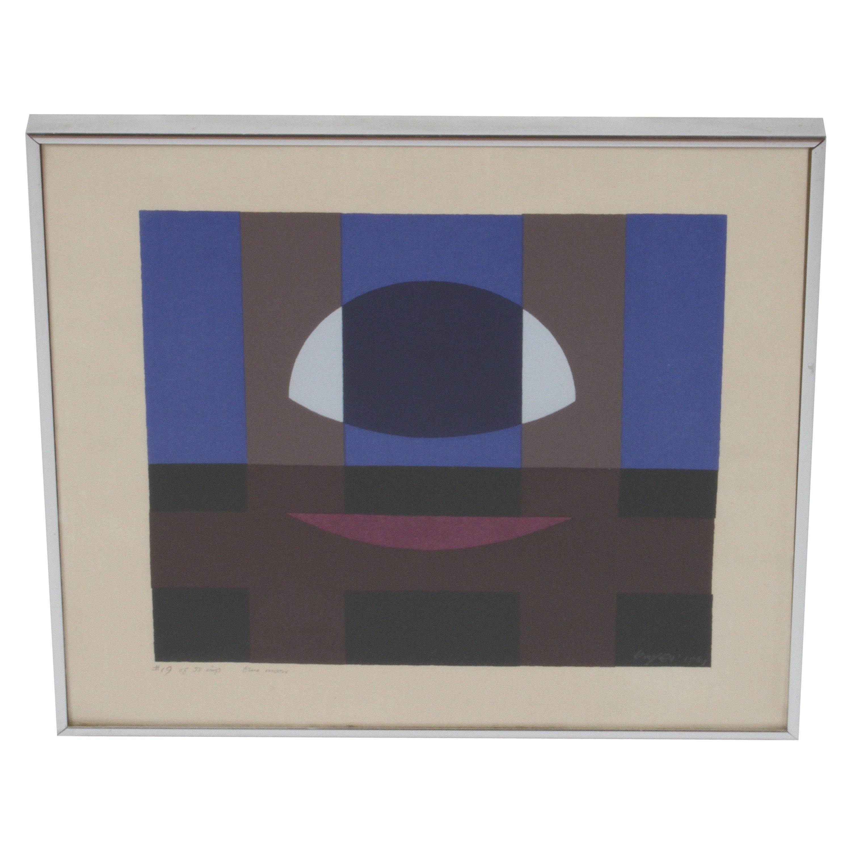 Herbert Bayer, Blue Moon Lithograph, Bauhaus Artist