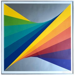 "Herbert Bayer ""Chromatic Twist"" Screen Print, 1970s"