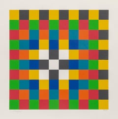 Grid, Bauhaus Silkscreen by Herbert Bayer 1967