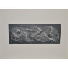 """Herbert Bayer """"Veil Mountain"""" Offset Lithograph c.1965"""