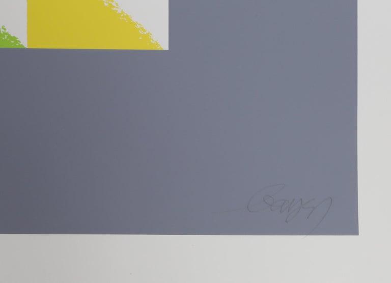 Triangulated Squares, Bauhaus Silkscreen by Herbert Bayer For Sale 1