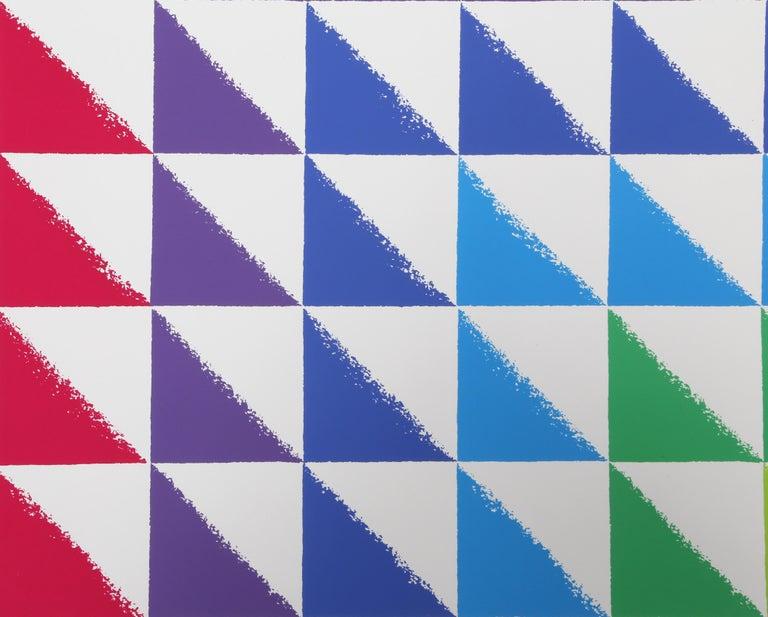 Triangulated Squares, Bauhaus Silkscreen by Herbert Bayer For Sale 2